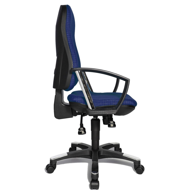 Topstar 9020AG04 B/ürostuhl Bezugsstoff orange ergonomisch Trend SY 10 Schreibtischstuhl mit Armlehnen