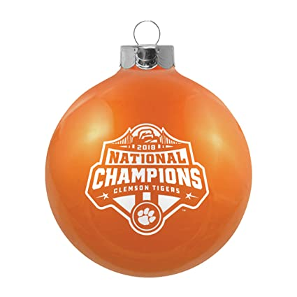 National Christmas Tree 2019.Clemson Tigers 2018 2019 Cfp National Champions Glass Ball Christmas Ornament