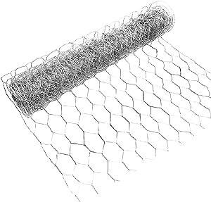 changsha Chicken Wire Net 13.7×315inch for Craft Projects- Galvanized Metal Hexagonal Wire Netting, Lightweight Mesh Wire for Craft Projects, Home Use and Gardening