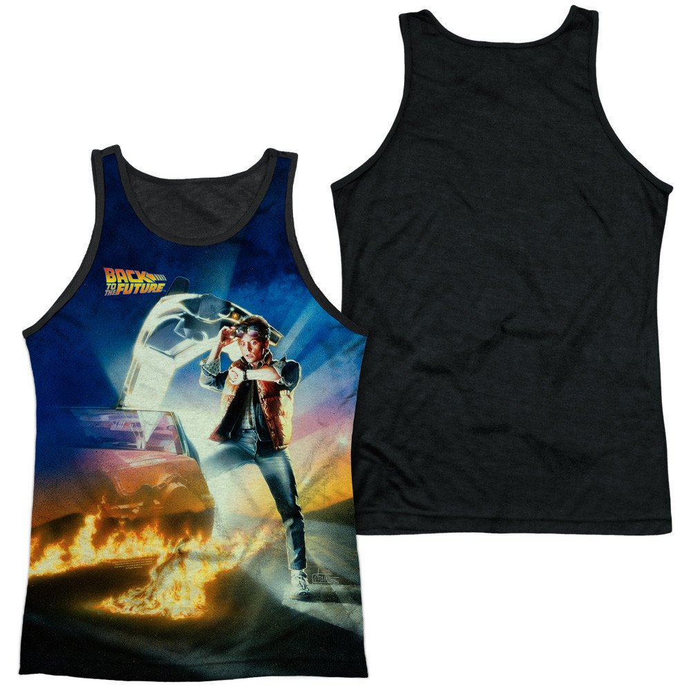 Back To The Future Movie Poster Adult Tank Top