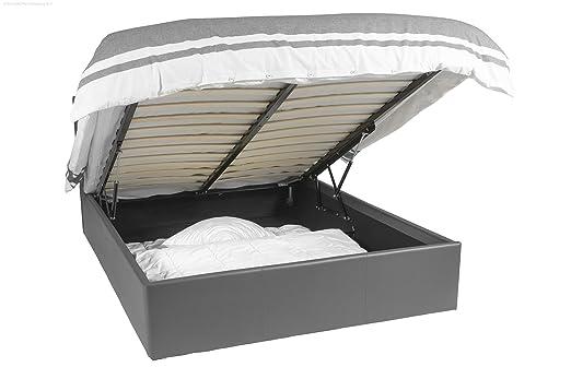Ottoman cama - 140x190 - gris ratón - Cama con espacio de ...