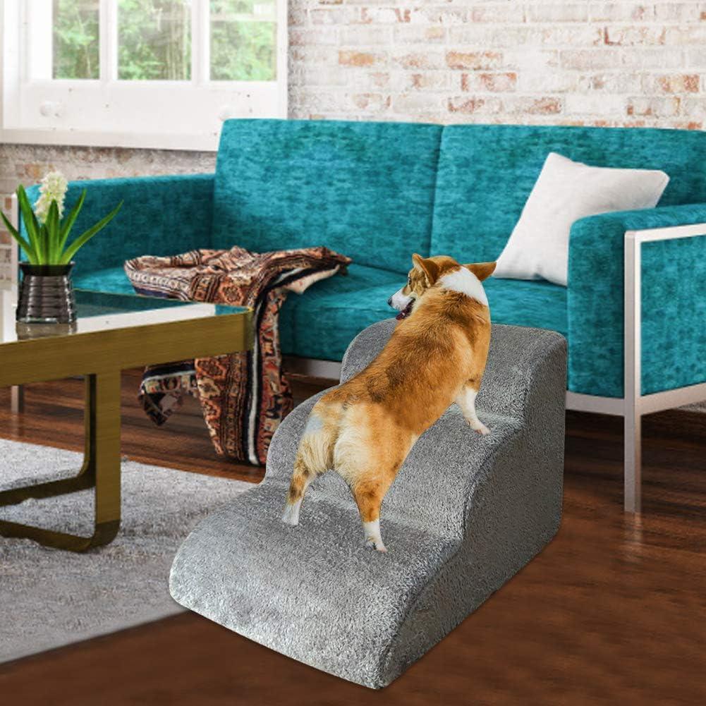 escaleras para perros escalones para sof/á escaleras para mascotas 60 x 42 x 39 cm escaleras para mascotas Escaleras para perros escaleras para camas altas ligero y port/átil para perros y gatos