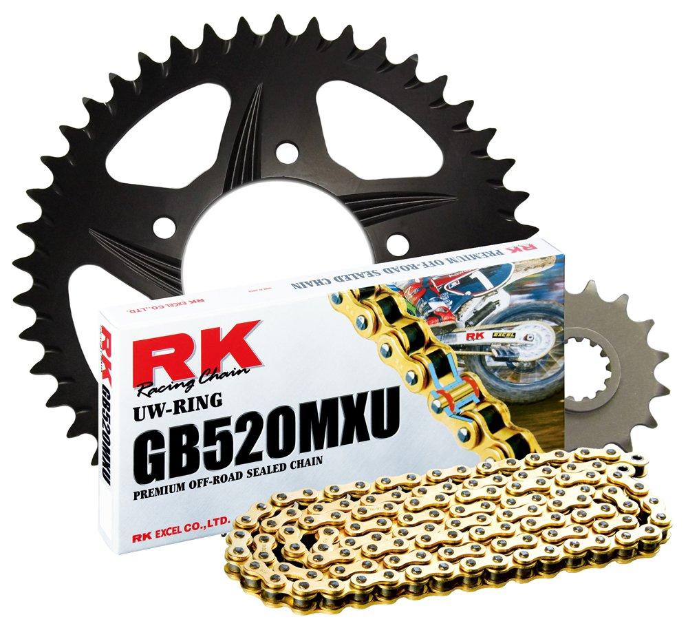 RK Racing Chain 5902-4517ZK Black Aluminum Rear Sprocket and GB520MXU Chain KTM Gearing Kit