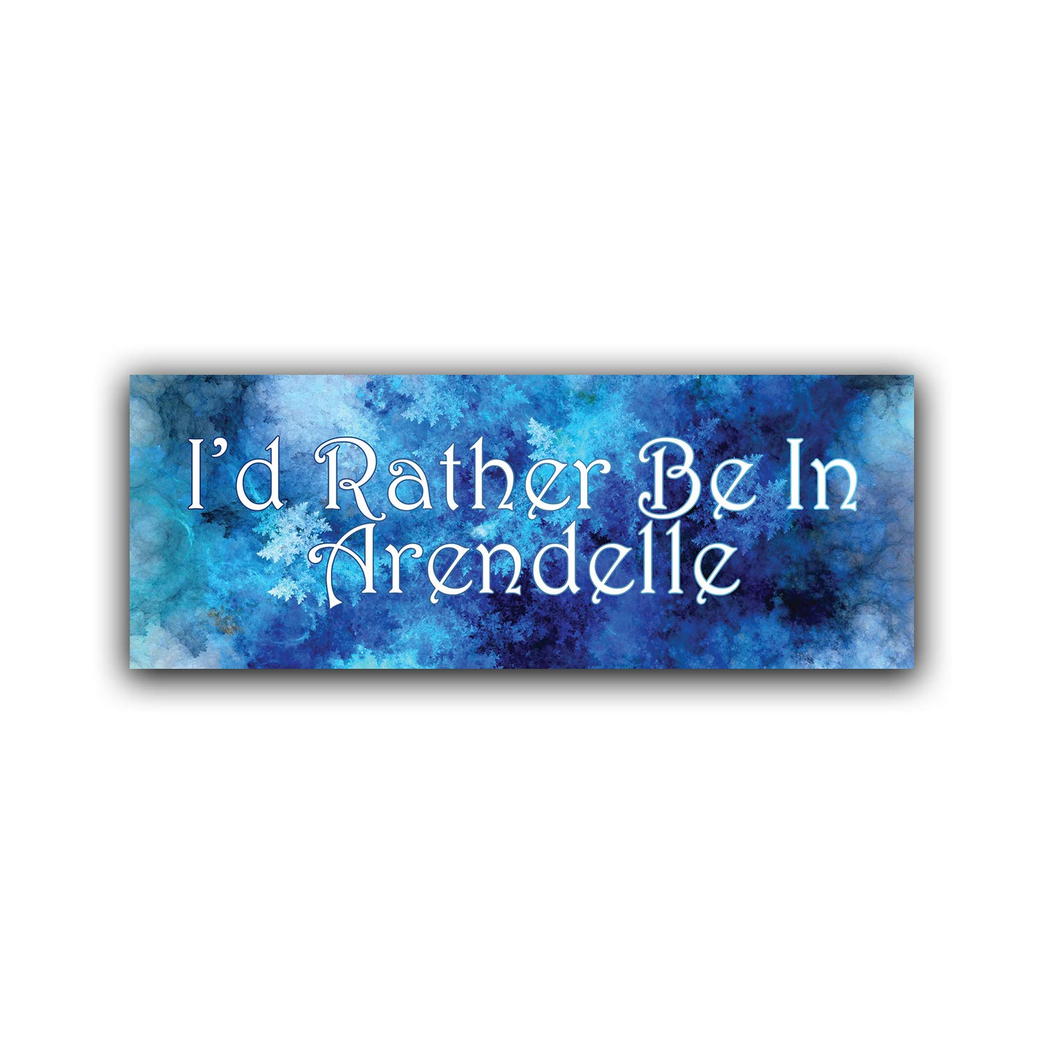 Car Truck Van SUV Window Wall Cup Laptop One 8.25 Inch Decal More Shiz Id Rather Be in Arendelle Vinyl Decal Sticker MKS0783