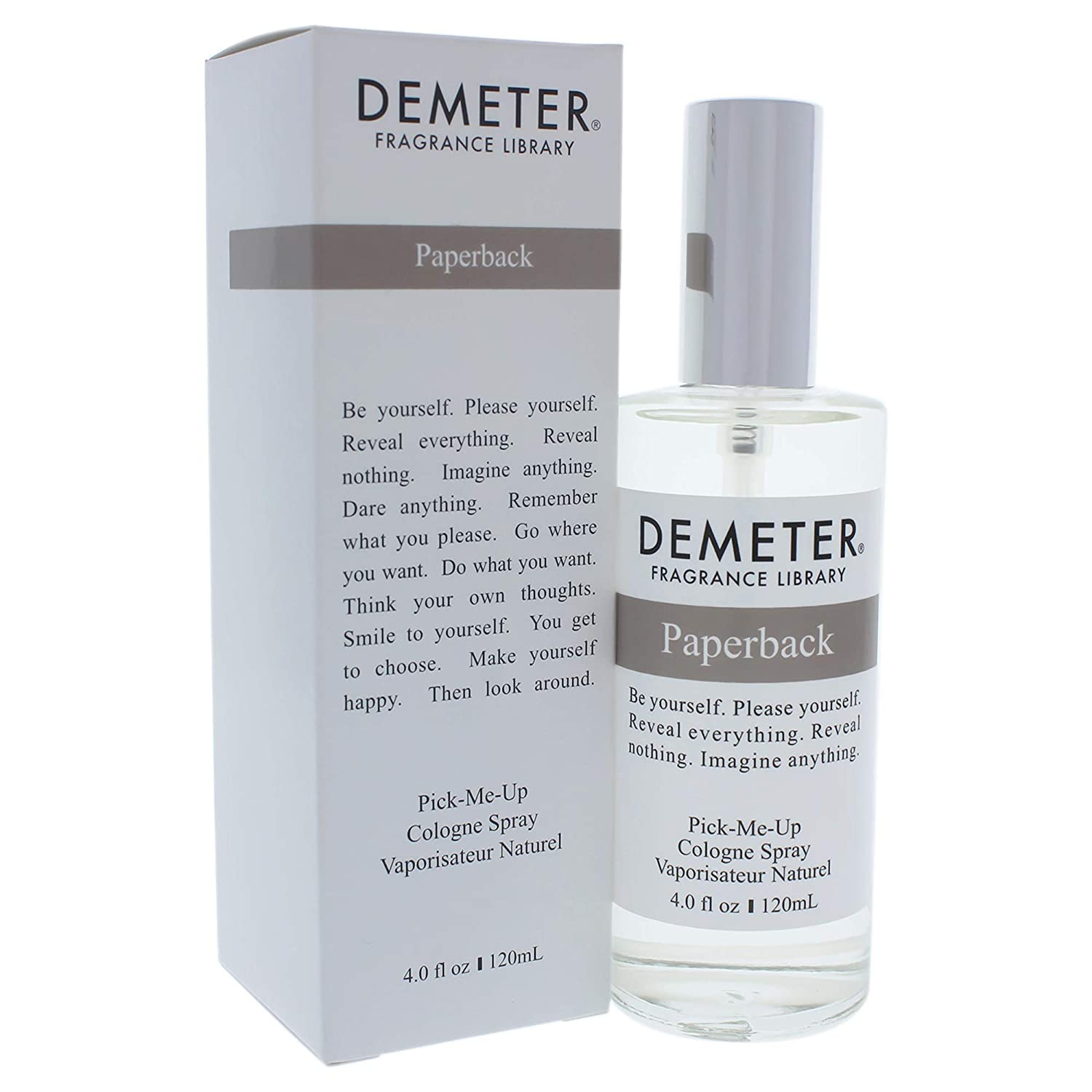 Demeter Paperback Cologne Spray for Unisex, 4 Ounce