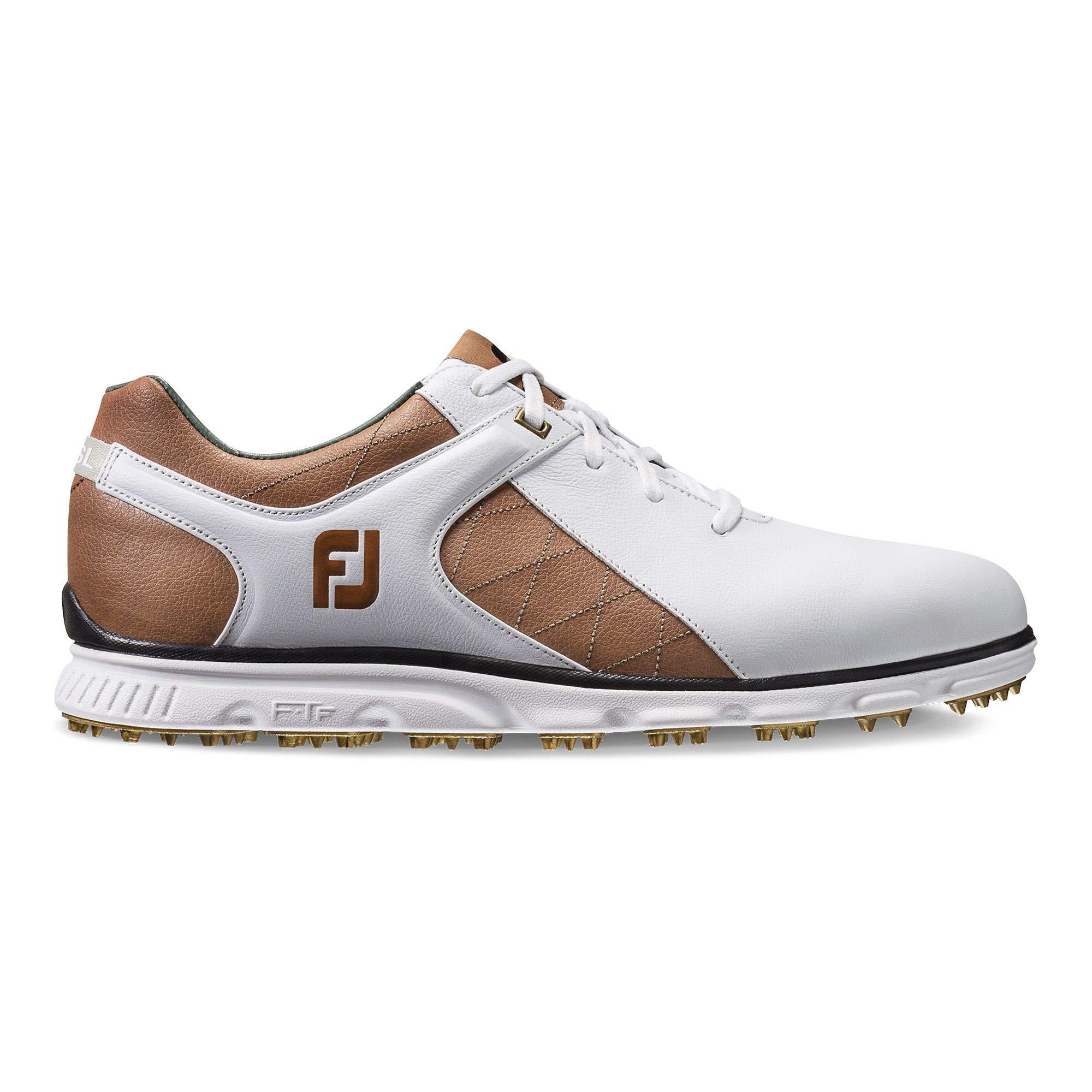 FootJoy Men's Pro/SL-Previous Season Style Golf Shoes White 8 M Tan, US