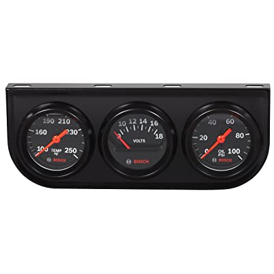 "Bosch SP0F000054 Style Line 2"" Triple Gauge Kit (Black Dial Face, Black Bezel): Automotive"