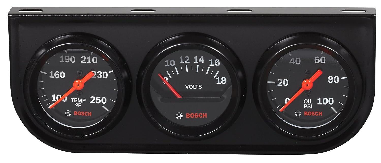 Black Dial Face, Black Bezel Bosch SP0F000054 Style Line 2 Triple Gauge Kit