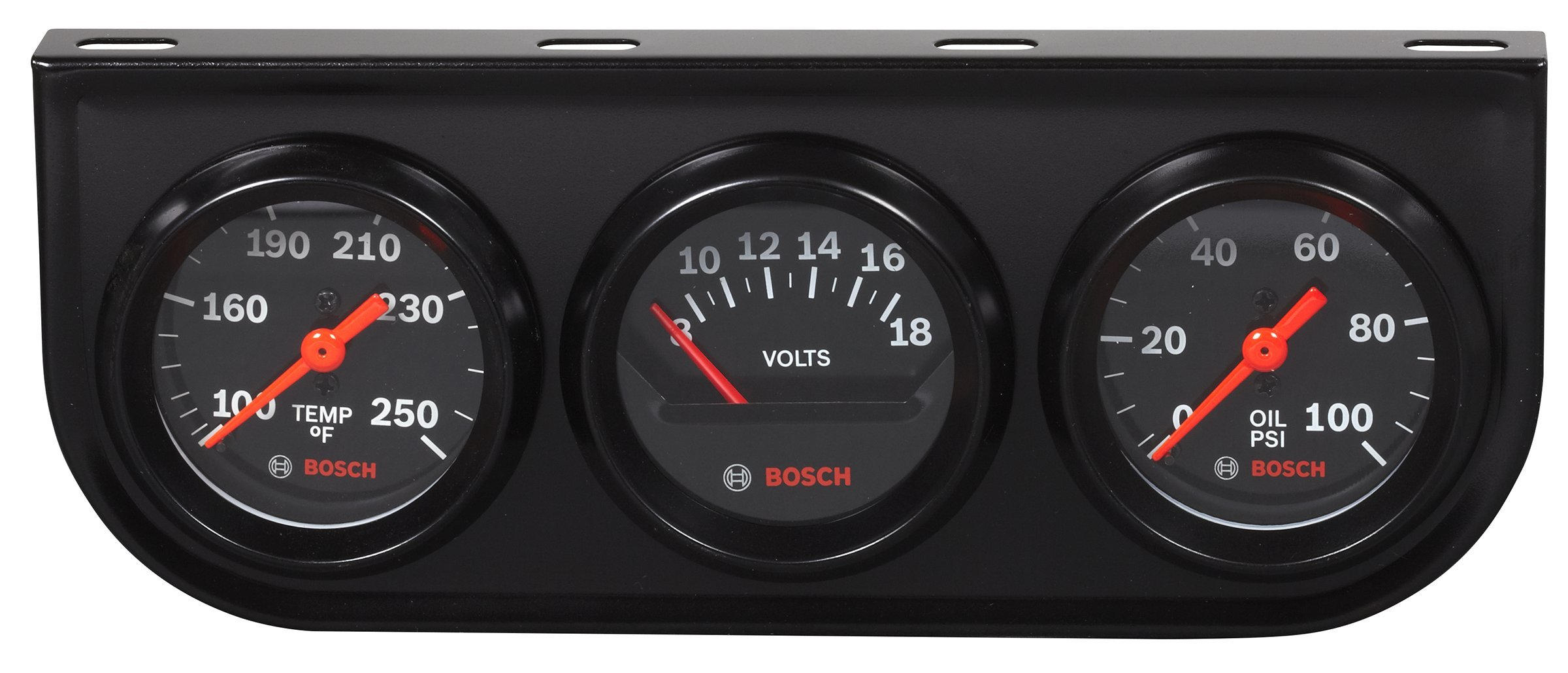 Bosch SP0F000054 Style Line 2'' Triple Gauge Kit (Black Dial Face, Black Bezel) by Bosch Automotive