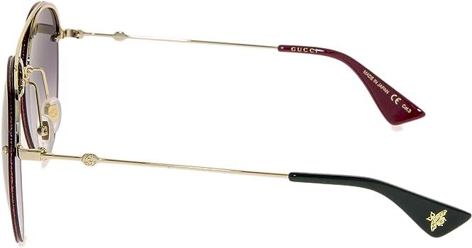 Amazon.com: GUCCI 0351 - Gafas de sol para aviador (metal ...