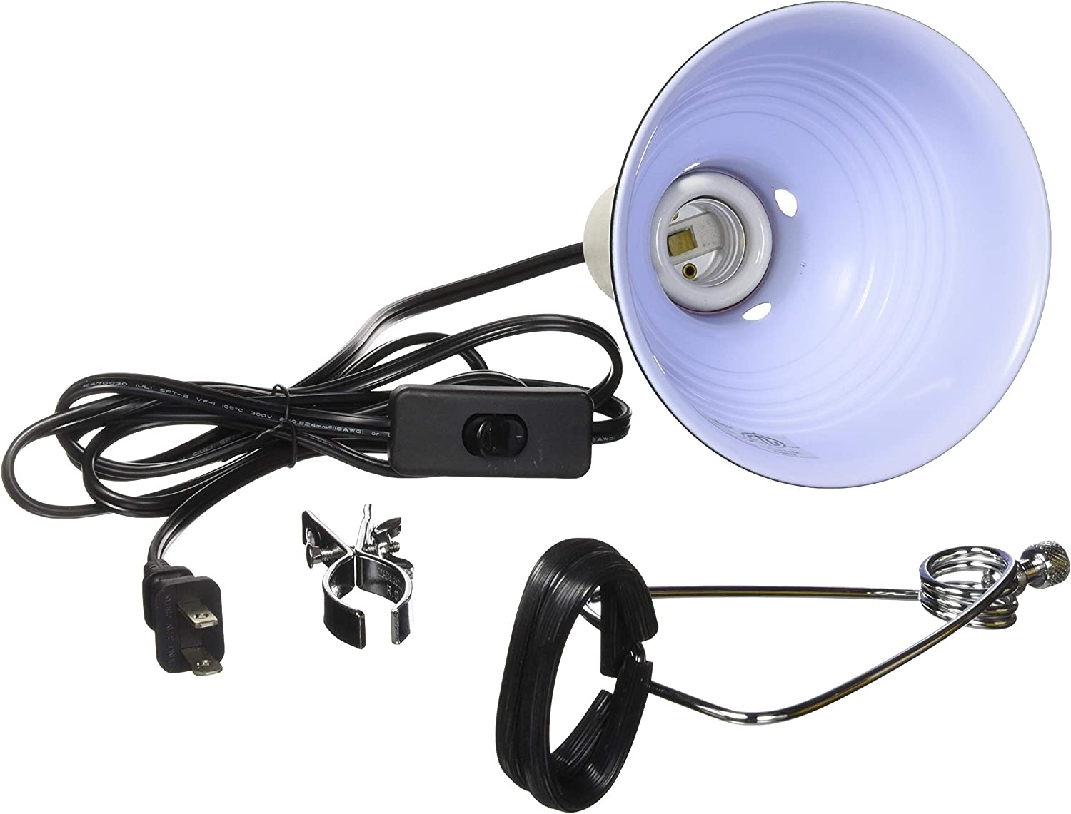 Fluker's Repta-Clamp Lamp with Switch for Reptiles: Pet Supplies