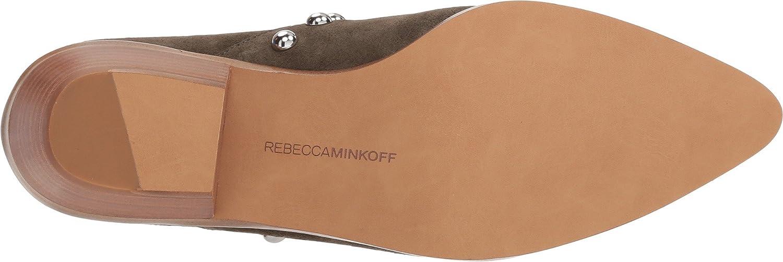 Rebecca Minkoff Women's Katen Studded Booties B07CJYYZLB 9 B(M) US|Olive Split Suede
