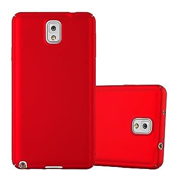Cadorabo Funda para Samsung Galaxy Note 3 en Metal Rojo - Cubierta Protección de Plástico Duro Super Delgada e Inflexible con Antichoque - Case Cover ...