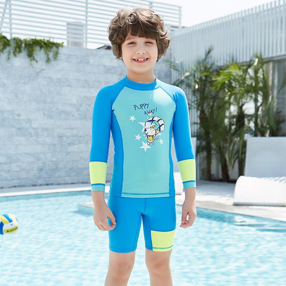 adf9b12e57 CADong Girls Boys Two Piece Rash Vest long Sleeve Rash Guard Tankini Sets Swimsuit  Swimwear UPF 50+: Amazon.co.uk: Sports & Outdoors