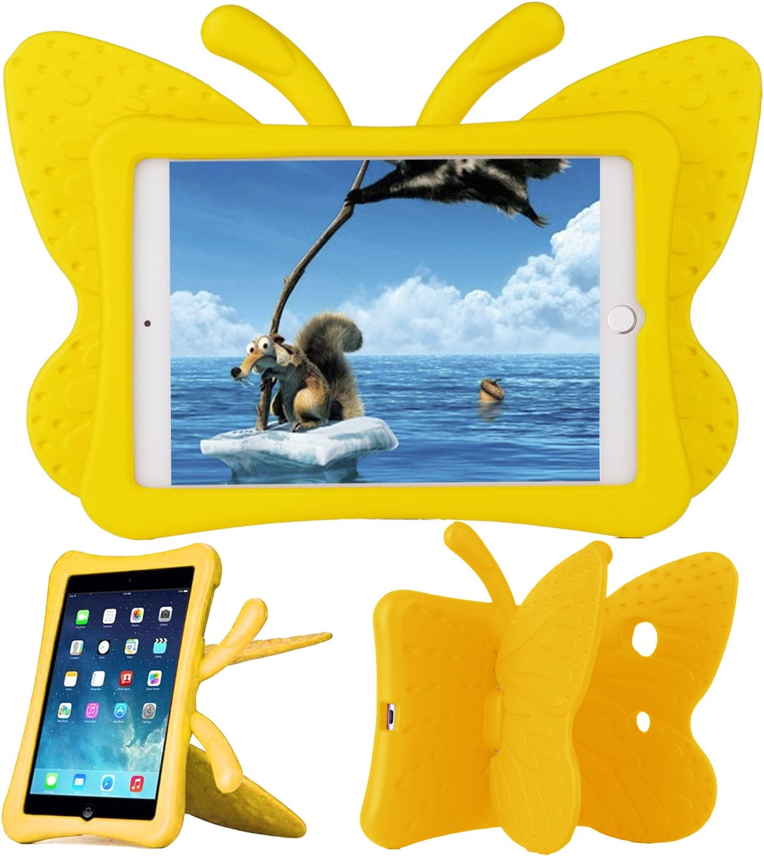 Xboun Butterfly Series EVA Shock Proof Protective Case for Apple iPad Mini 1/ Mini 2/ Mini 3/ Mini 4/ Mini 5 - Yellow
