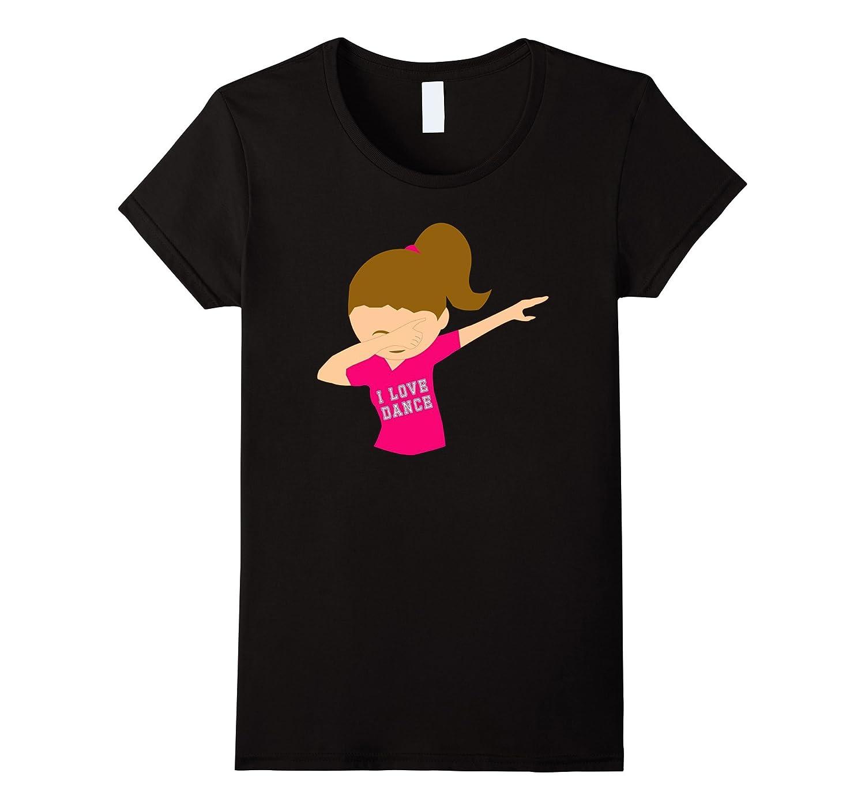 Dance Dabbing T Shirt Girls Teens-Teechatpro