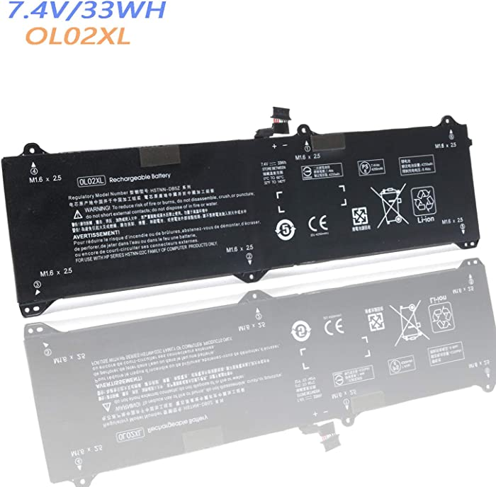 Replacement Battery for OL02XL Laptop Battery for HP EliteBook X2 1011 G1 Series 50334-2C1 750549-001 HSTNN-DB5Z OL02033XL 7.4v 33Wh