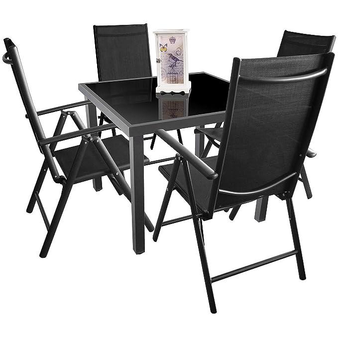 MultiStore 5 Piezas. Mobiliario de jardín de Aluminio, Cristal ...