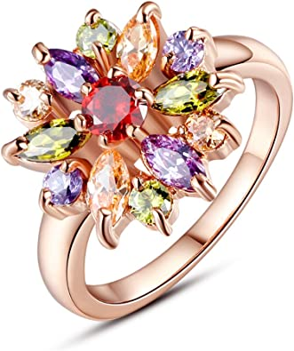 Fashion Gold Plated Lady Girl Style Jewelry Rings