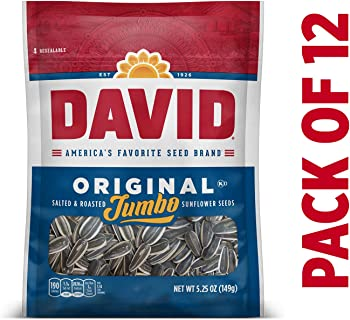 12-Pack David Seeds Jumbo Sunflower Original, 5.25 Ounce
