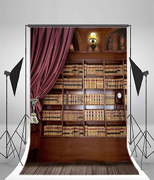 65x10ft Lfeey Vinyl Photography Background Backdrops Bookcase Bookshelf Ancient Wooden Floor Abstarct Portrait Personal Classical