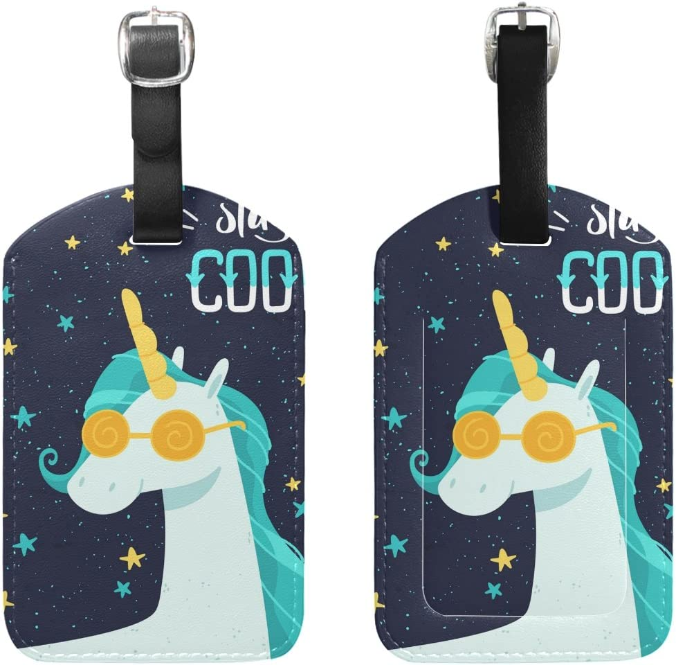 Set of 2 Christmas Gifts Luggage Tags Suitcase Labels Bag Travel Accessories