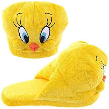 new concept 06b29 1b46c Tweety Bird Looney Tunes Big Face Head Adult Plush Character Slippers Small  6 7  Amazon.ca  Luggage   Bags