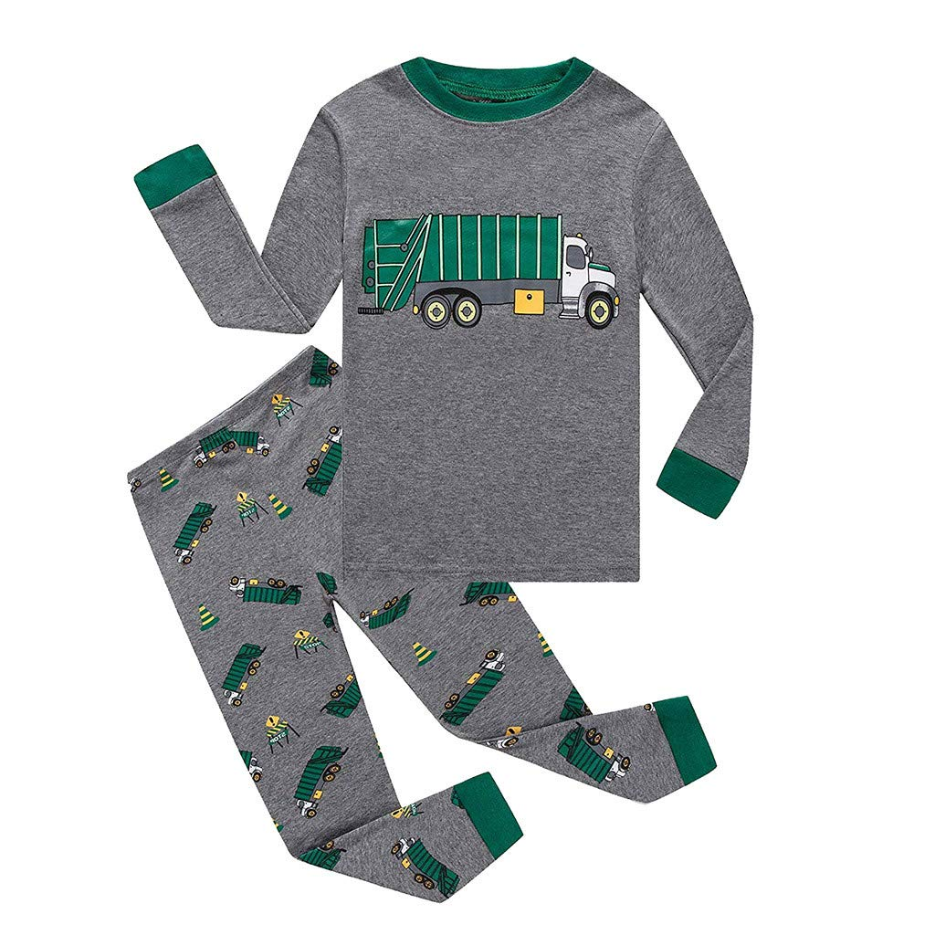 Novel Baby Clothes,Toddler Infant Newborn Boys Girls Long Sleeve Shark Tops+Pants Pajamas Sleepwear Outfit