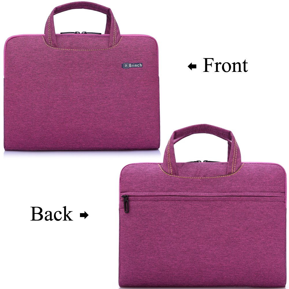 Brinch 15, 15.6-Inch Waterproof Laptop Case Bag with Handle for Apple Macbook, Chromebook, Acer, Asus, Dell, Fujitsu, Lenovo, HP, Samsung, Sony, Toshiba - Purple by BRINCH (Image #2)
