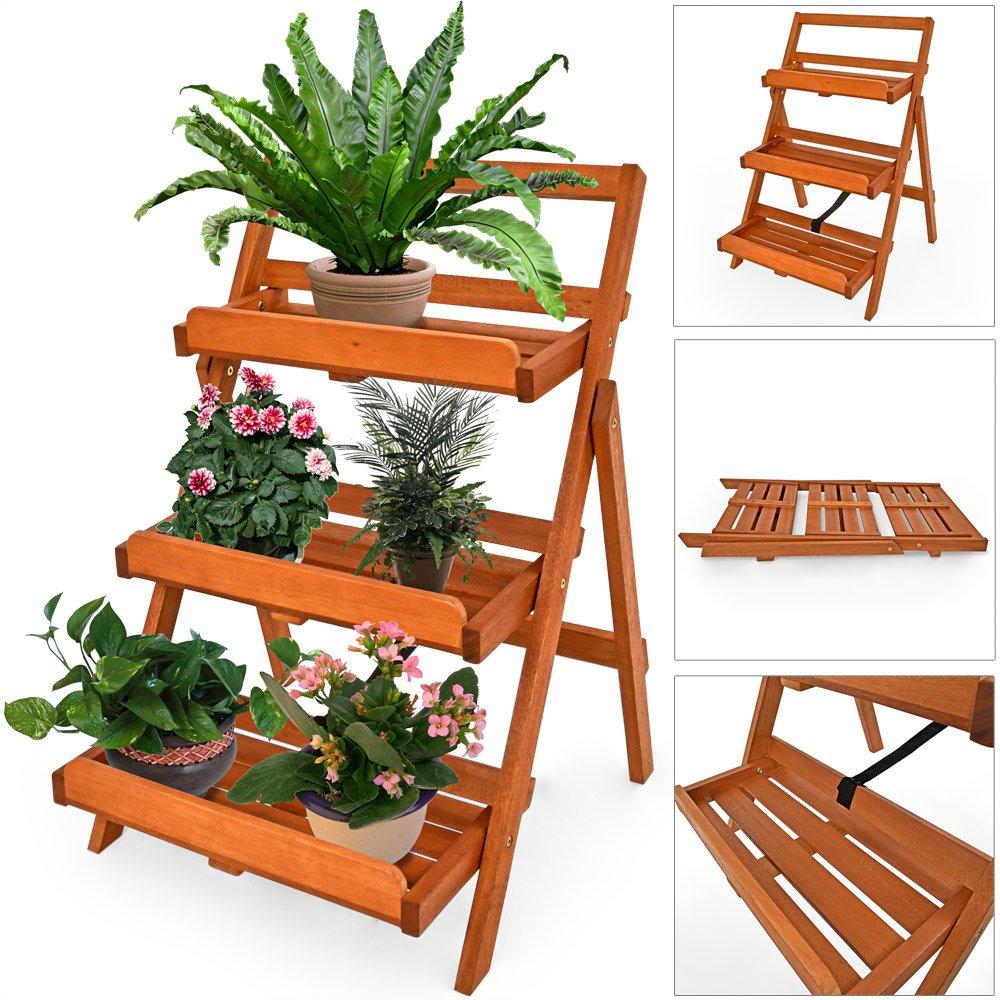 Blumentreppen | Amazon.de Blumentreppe Holz Metall Pflanzentreppe