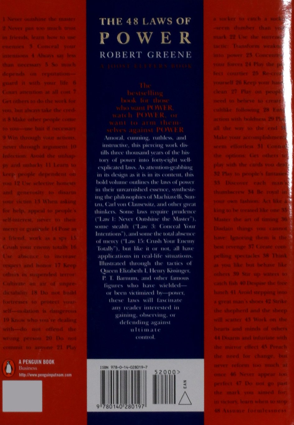 the 48 laws of power robert greene 8580001039893 amazon com books