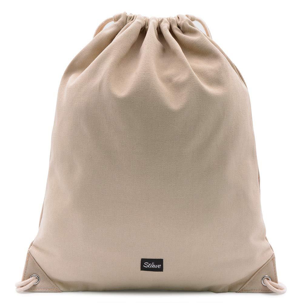 Sac /à Dos pour Sac de Sport Gymsack Sac de Jute Unisexe pour Filles Stuewe 118//5000 Sac de Sport en Toile 100/% Coton