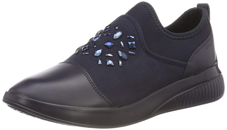 Geox D Theragon A, Zapatillas sin Cordones para Mujer