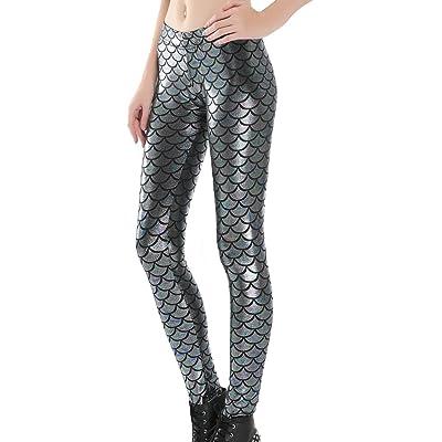 Femme Mode Entraînement Balances De Poisson Imprimé Confortable Extensible Leggings Actif Yoga Leggings Pantalons