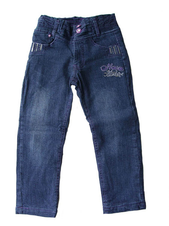 Mädchen Thermo Jeans, Hose, Thermohose, gefüttert, mit Motiv, blau, AM-KI-MAE-Thermo-SC217