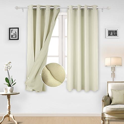 Best window curtain panel: Deconovo Solid 2 Panels Grommet Window Curtains