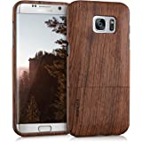 kwmobile Samsung Galaxy S7 Edge Cover Legno - Custodia in Legno di Rosa Naturale - Case Rigida Backcover per Samsung Galaxy S7 Edge