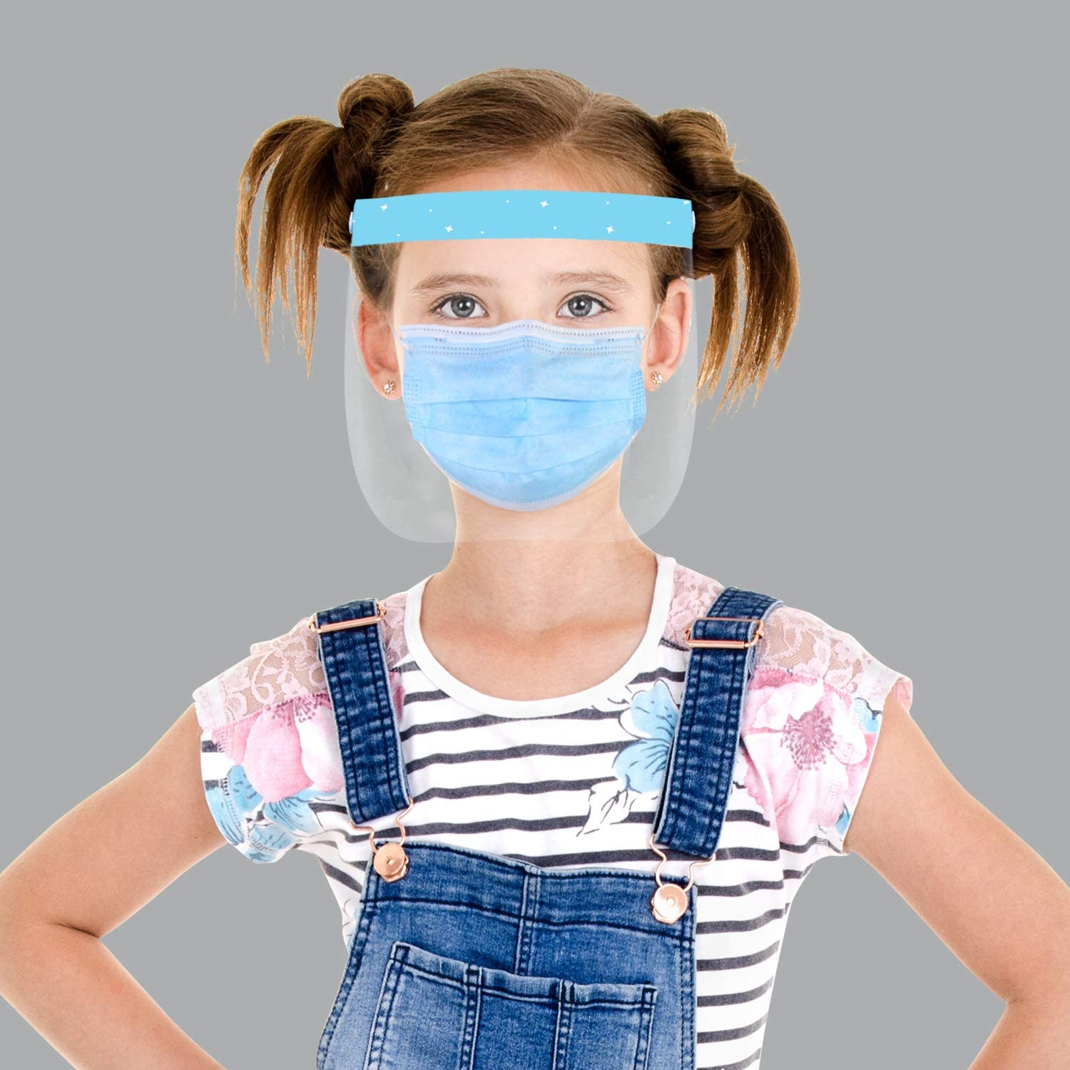 1 Sports face  shield 6Lx12W  for kids children comfy no tight band around head
