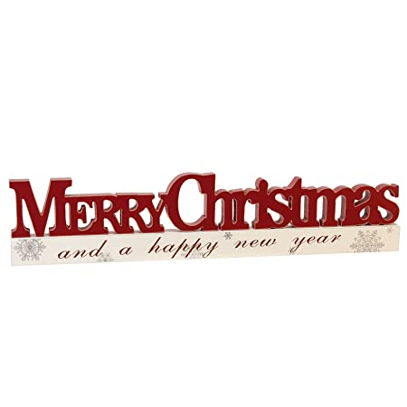 wooden christmas collection merry christmas sign word decoration red