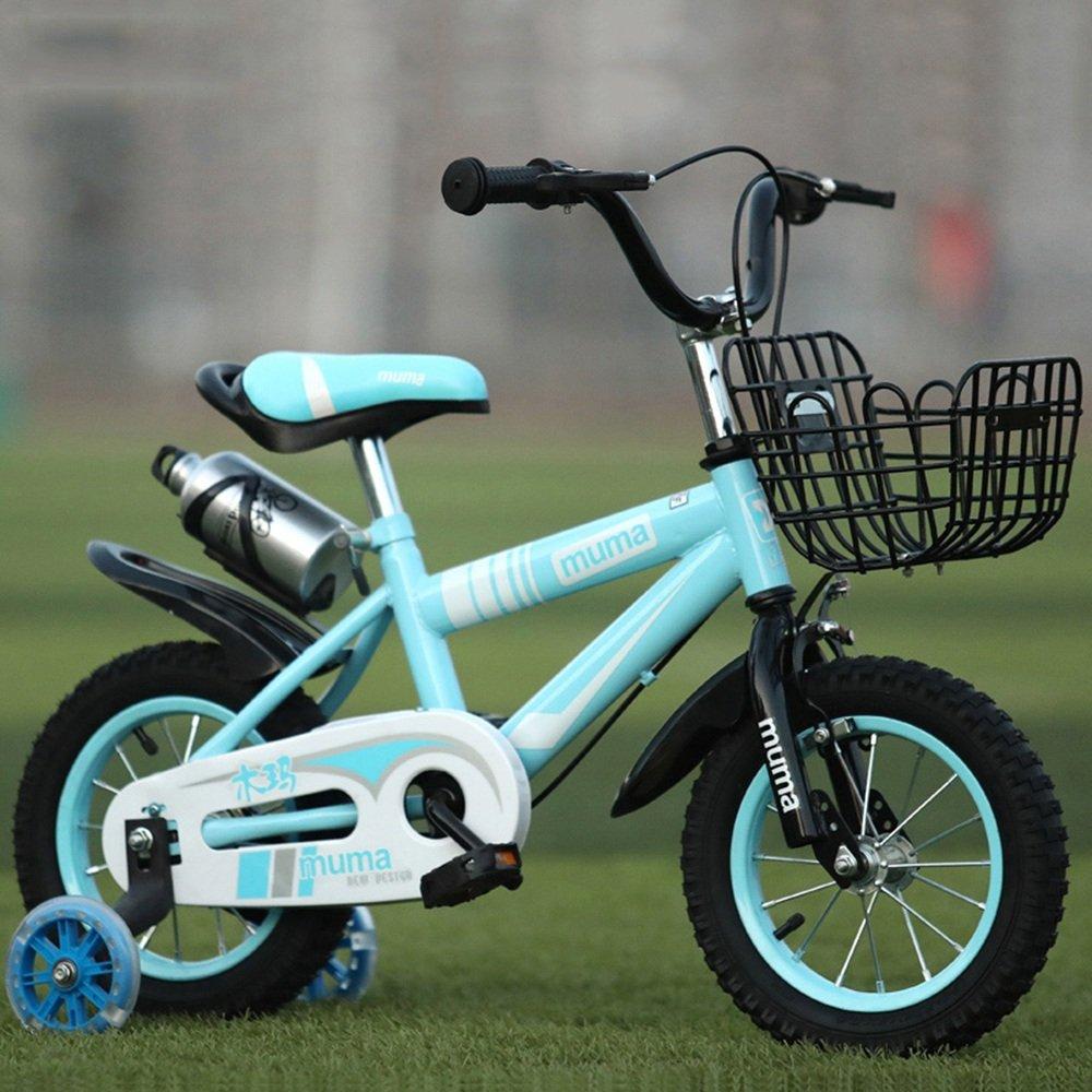 Brisk-子供時代 フリースタイルキッズバイクボーイとガールズ自転車、トレーニングホイール付きパーフェクトギフト12-14-16-18インチ -アウトドアスポーツ (色 : 青, サイズ さいず : 12 inch) B07FH7RK48 12 inch|青 青 12 inch
