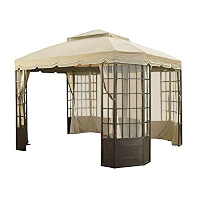 RIPLOCK Fabric - Replacement Canopy Top Cover and Netting Set for The Bay Window Gazebo Sold at Sears: Garden & Outdoor