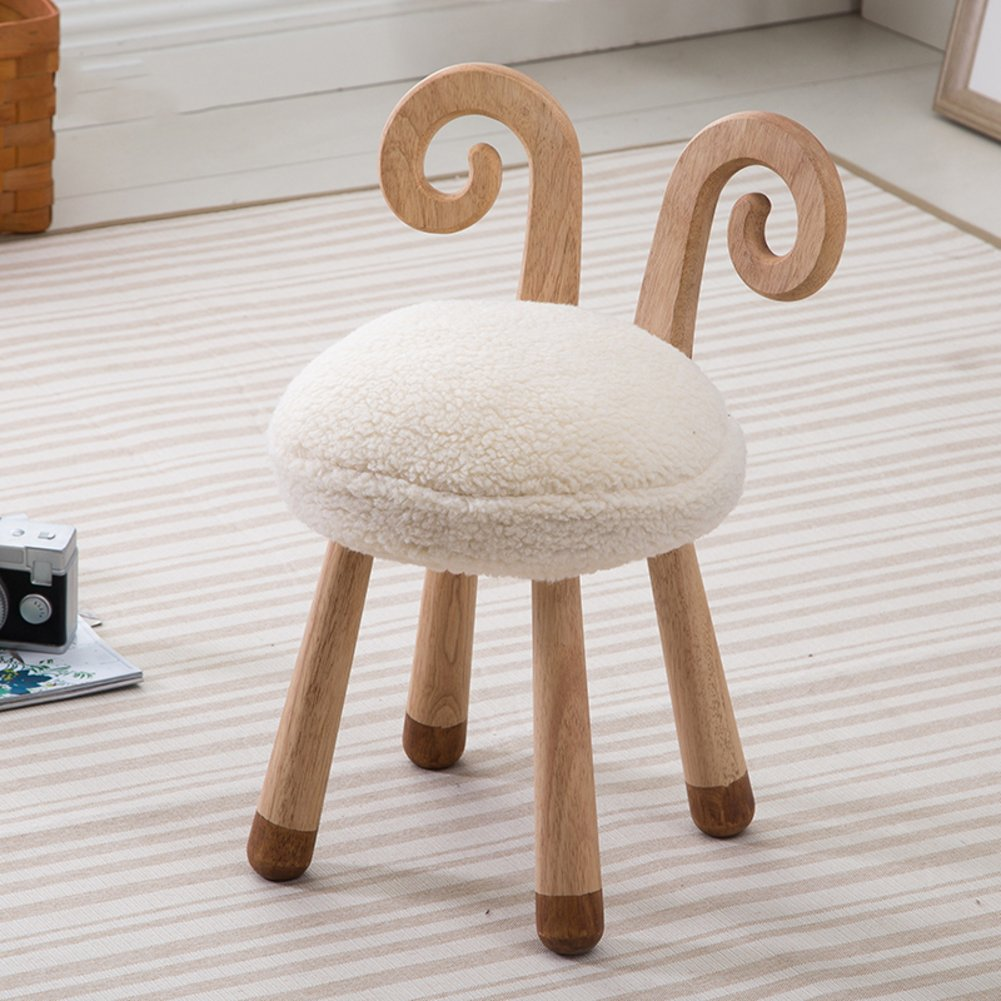 Footstool/ stool / nordic, solid wood, creative, children/ removable/ cute, fun, animal modeling / decorative furniture/need to be installed-D 30x51cm(12x20inch)