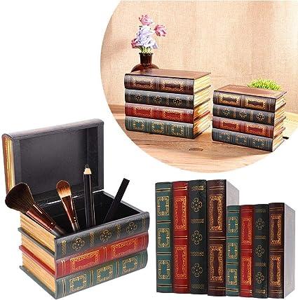 Caja de almacenamiento retra de la forma del libro, caja creativa ...