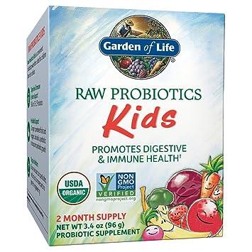 garden of life probiotics kids. Garden Of Life - RAW Probiotics Kids Acidophilus And Bifidobacteria Organic Probiotic Supports Digestive Health D