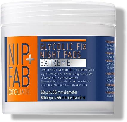 Nip Fab glicólico Fix Extreme Night Pads, 60 almohadillas de ...