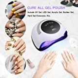 120W UV LED Nail Lamp, Easkep Faster Nail Dryer for Gel Polish with 4 Timer Setting Professional Gel Lamp Portable Handle Curing Lamp for Fingernail and Toenail Auto Sensor Nail Machine