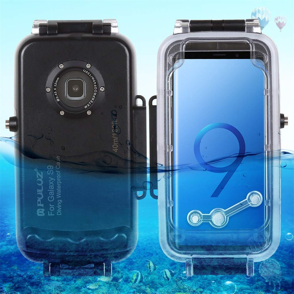 Lljin for Galaxy S9 5.8 Inch Diving Phone Protective Case Waterproof Swim Dive Shell(Black)