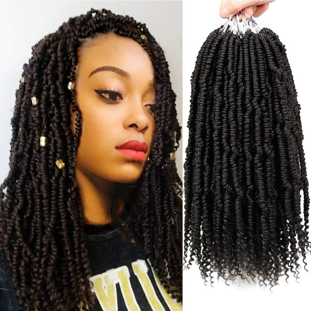 Amazon Com 6 Packs Bomb Twist Crochet Hair 14 Inch Spring Twist Crochet Braids Pre Looped Mini Passion Twist Braiding Hair Senegalese Spring Twist Nubian Twist Kinky Curly Synthetic Hair Extensions 1b Beauty