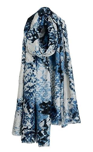 riscawin Lady nuevo moda primavera aspecto de piel de serpiente patrón impreso suave bufanda chal