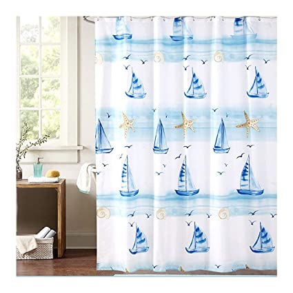 Ufatansy Uforme Nautical Shower Curtain Polyester Durable Shabby Chic Decor Bathroom Curtains Anti Mildews